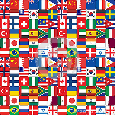 Pattern made of flag icons