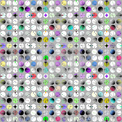 Free Pattern Made Of Colourful Patterned Circles Royalty Free Stock Photo - 67646575