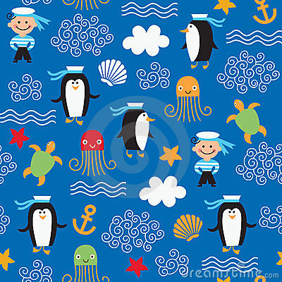 pattern on the marine theme