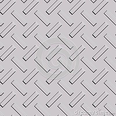 Pattern on metal plate