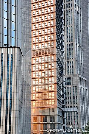 Pattern of metropolis buildings