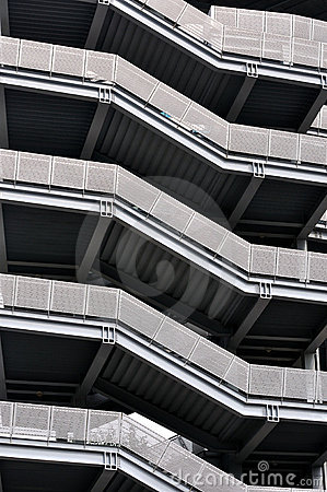 Pattern of modern building stairs