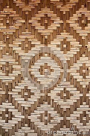 Pattern native Thai style bamboo wall