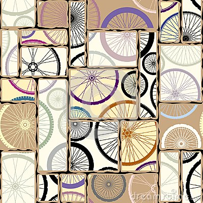 Free Pattern Of Bycicles Wheels. Stock Photos - 121866043