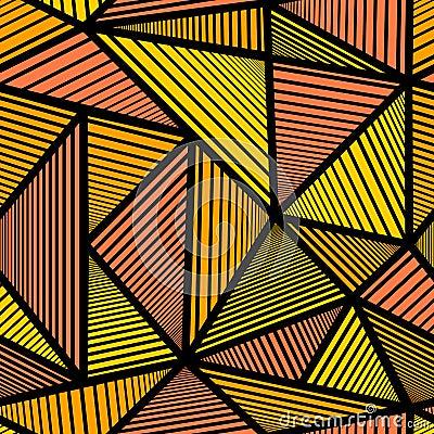 Pattern with orange triangle Stock Photo