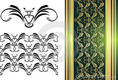 Pattern of ornament for decorative background