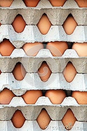 Pattern of packs of egg