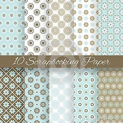 Free Pattern Papers For Scrapbook (tiling). Stock Images - 37139954