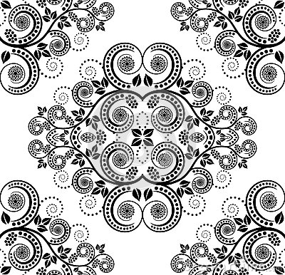 Pattern with plant decoration