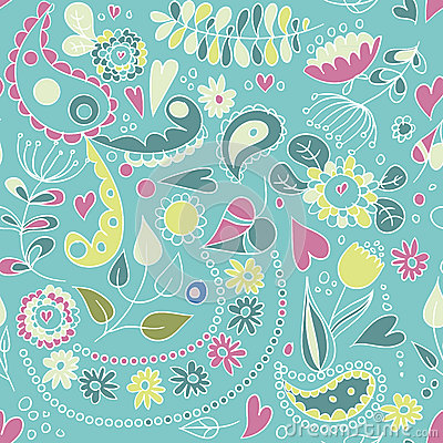 Pattern with plants and