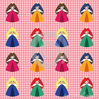 Pattern with princesses