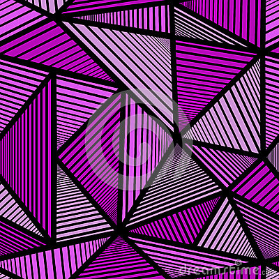 Pattern with purple triangle Stock Photo