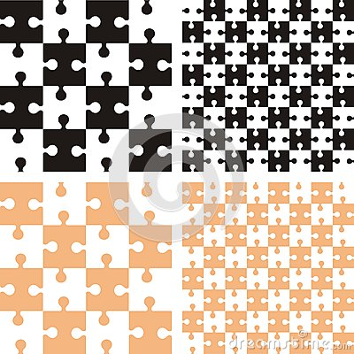 Pattern with puzzle