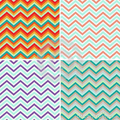 Free Pattern Retro Zig Zag Chevron Vector Stock Photography - 27542072