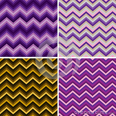 Pattern Retro Zig Zag Chevron Vector