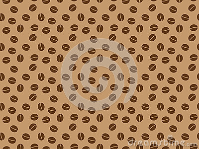 Pattern with roasted coffee grains