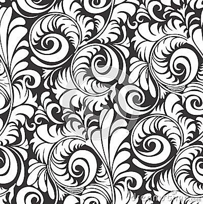 seamless black and white floral ornament mr no pr no 0 388 0
