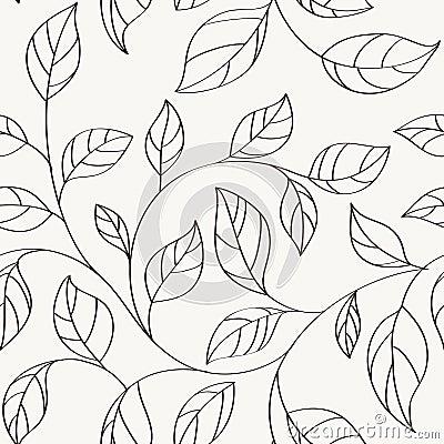 Pattern seamless leaves