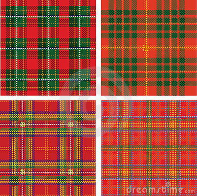 Pattern of seamless tartan plaid