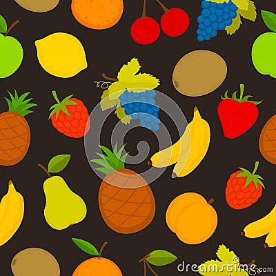 Pattern set of vector fruit