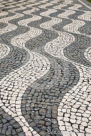 The pattern on the sidewalk