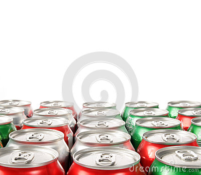 Pattern of soft drink can tops
