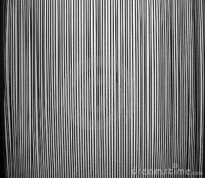 Pattern of steel rods against a rough wall -