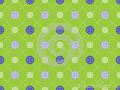 Pattern with stitches and buttons