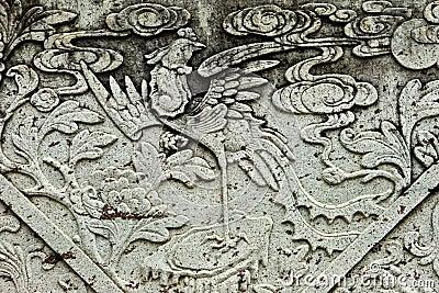 Pattern on a stone.