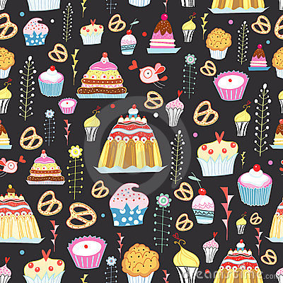 Pattern of sweet cakes