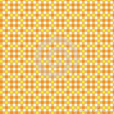Pattern tablecloth yellow orange