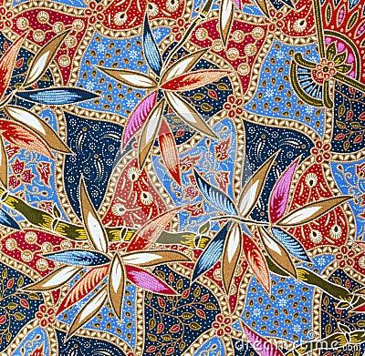 Pattern on the thai cloth