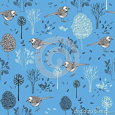 Free Pattern With Birds Stock Photos - 29275743