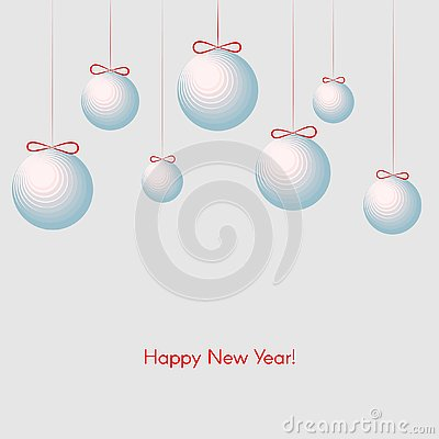 Free Pattern With Festive Balls With Text Happy New Year Winter Background For New Year And Christmas Stock Images - 132829684