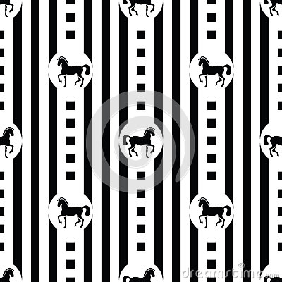 Free Pattern With Horses Royalty Free Stock Images - 35964069