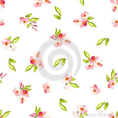 Free Pattern With Little Pink Flowers Royalty Free Stock Photo - 65118985