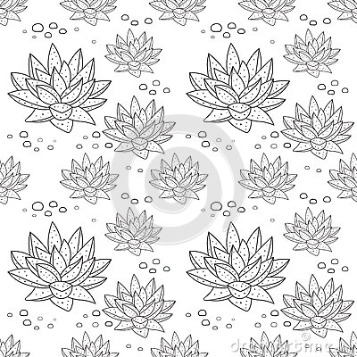 Free Pattern With Succulent Plants Royalty Free Stock Photos - 68177618