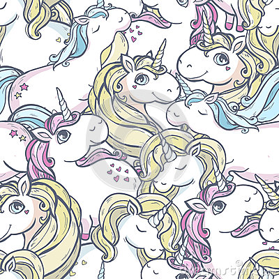 Free Pattern With Unicorns. Royalty Free Stock Image - 52868236