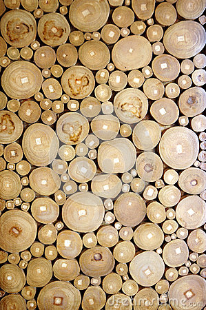 Pattern of the wood pieces
