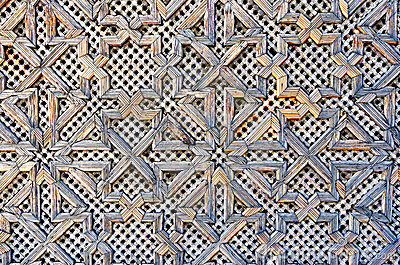 Pattern on a wooden gate