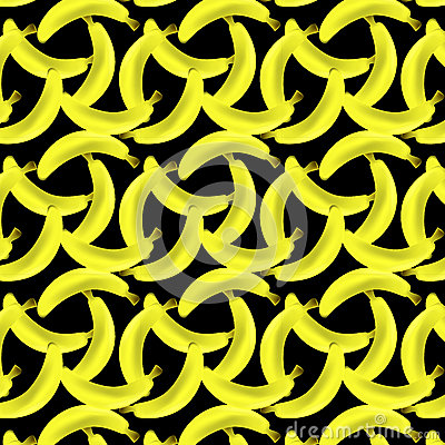A pattern of yellow bananas Vector Illustration