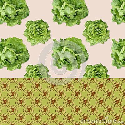 Patterned Background - Salads Stock Photo