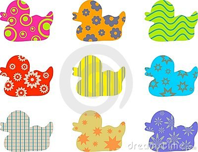 Patterned ducks