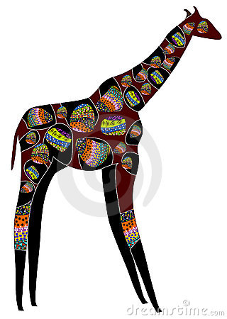 Patterned giraffe