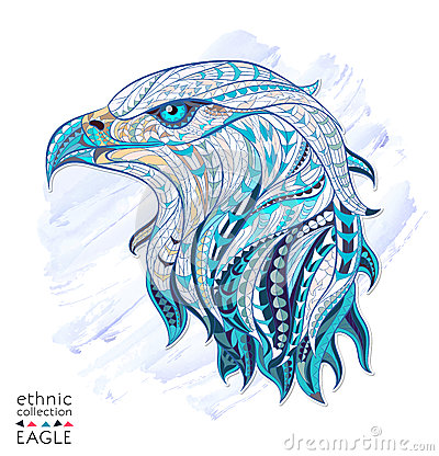 Free Patterned Head Of Eagle Stock Images - 53669634