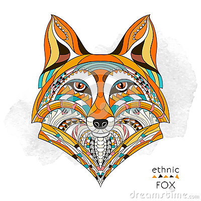 Free Patterned Head Of The Fox Royalty Free Stock Photography - 53716977