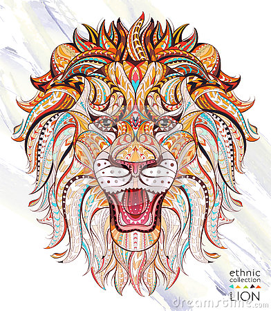 Free Patterned Head Of The Roaring Lion Royalty Free Stock Photography - 78869027