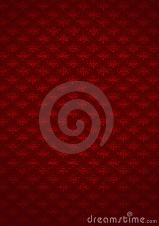 Patterned red background