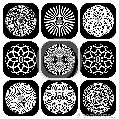 Worksheets Shape Design Patterns patterns in circle shape design elements stock photo image 22703930