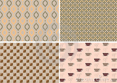 Patterns in coffee concept
